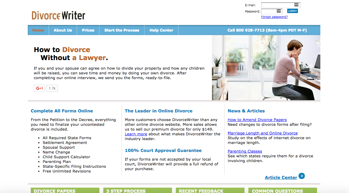 divorcewriter online divorce reviews